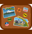 oregon pennsylvania travel stickers vector image vector image