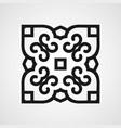 ornamental black logo vector image