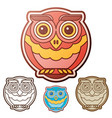 owl flat set vector image vector image