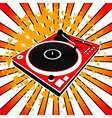 red Dj turntable vector image