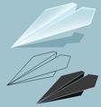 rocket paper vector image vector image