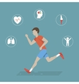 Running Health Infographics vector image