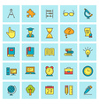 School and education icon set in flat design style vector image vector image