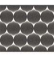 Seamless Black And White Stripes in Circles vector image