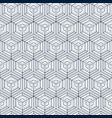 seamless cubes techno pattern background vector image vector image