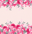 Seamless floral border with pink roses vector image