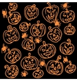 Seamless pattern for Halloween Pumpkin vector image