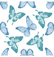 seamless pattern with hand drawn pastel papilio vector image vector image