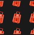 Seamless pattern with travel bag with luggage