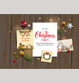 seasonal holiday template vector image vector image