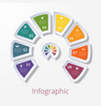 semicircle diagram with eight multicolored vector image vector image