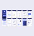 set ui ux gui screens banking app vector image