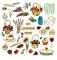 Shavuot doodles set vector image vector image
