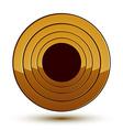 Sophisticated round emblem 3d decorative design vector image vector image