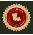 Star label Louisiana vector image vector image