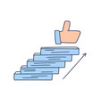 steps up to like doodle drawn hand vector image vector image