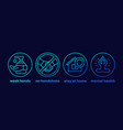 stop coronavirus advices stay at home icons vector image