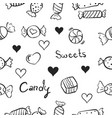 sweet candy doodles vector image vector image