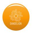 torn dandelion logo icon orange vector image