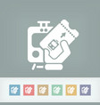 train ticket icon vector image vector image