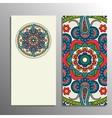 Vertical banner mandala ornament vector image vector image