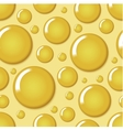 Yellow round bubble seamless pattern vector image vector image