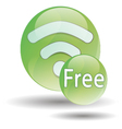 black wifi icon on a white background vector image