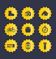 hiking camping icons set vector image