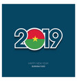 2019 burkina faso typography happy new year vector image vector image