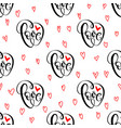 abstract seamless love pattern vector image