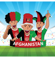 afghanistan football support vector image vector image