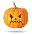 angry pumpkin vector image vector image