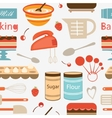 Baking pattern vector image vector image