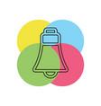 bell icon - alarm symbol vector image vector image