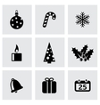 black cristmas icon set vector image vector image