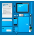 Blue Corporate ID mockup vector image vector image