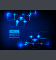 blue light technology abstract background vector image vector image