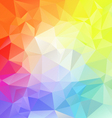 bright full spectrum polygon triangular pattern vector image vector image