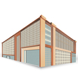 Building style scene vector image vector image