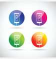 cell mobile phone battery charging colorful icons vector image vector image