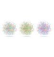 circle dots set bright colorful blot dots vector image