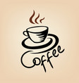 coffee cup cafe vintage poster banner sign coffee vector image vector image