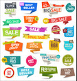 collection colorful modern badges and labels 8 vector image vector image