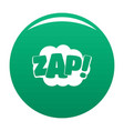 comic boom zap icon green vector image