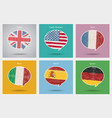 concept travel or studying languages vector image vector image
