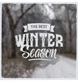 Creative graphic message for winter design vector image vector image
