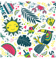 cute colorful summer tropical pattern vector image vector image