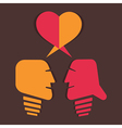 dating or relationship concept vector image