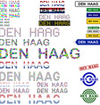 Den Haag text design set vector image vector image