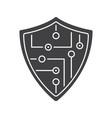 digital shield glyph icon vector image